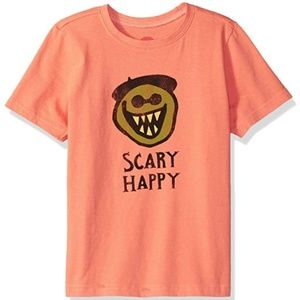 Life is Good Fresh Coral 3T Scary Happy T-shirt